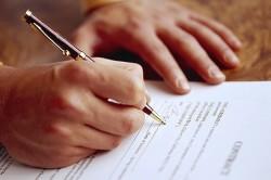 Подписание договора о службе по контракту